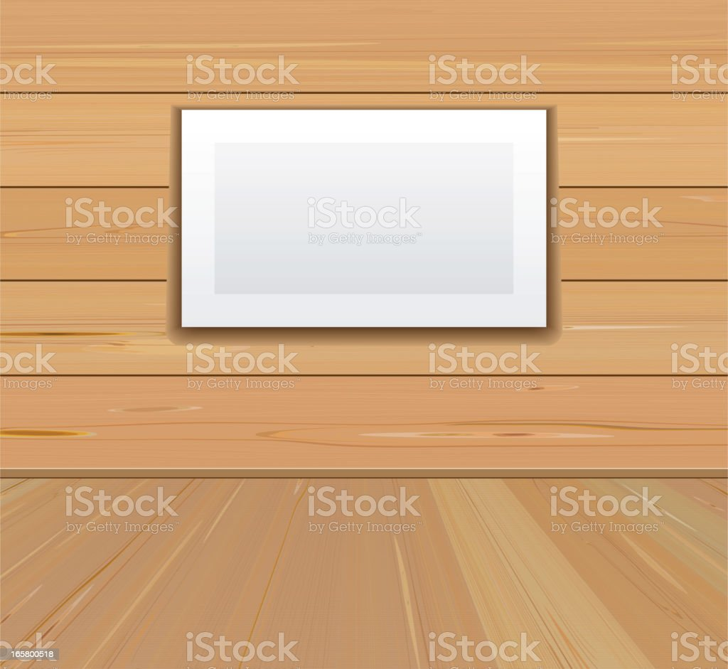 Picture frame on the wall vector art illustration