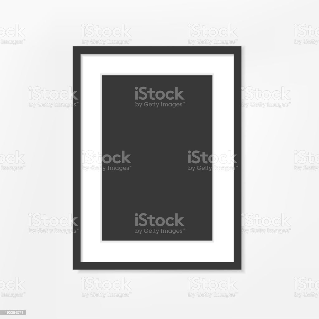 picture frame on white background vector art illustration