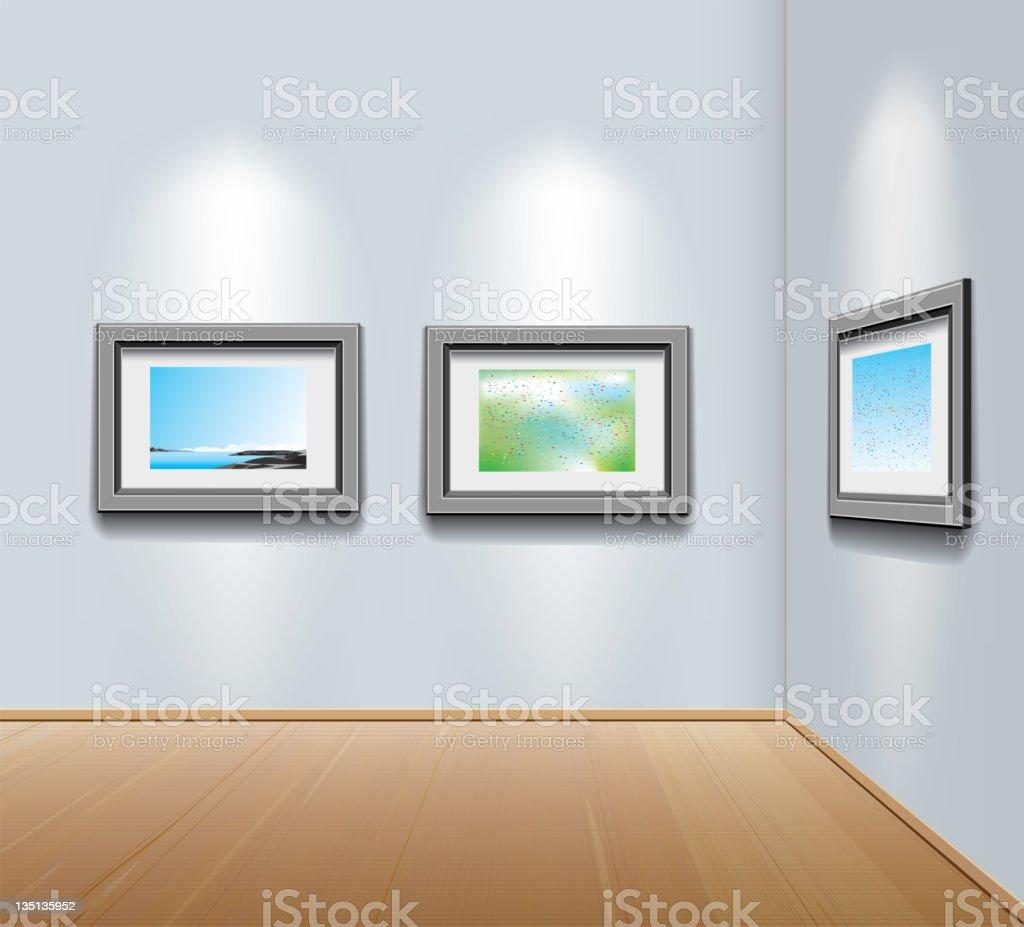 Ilustración de Los Marcos De Los Cuadros En La Pared En La Galería ...