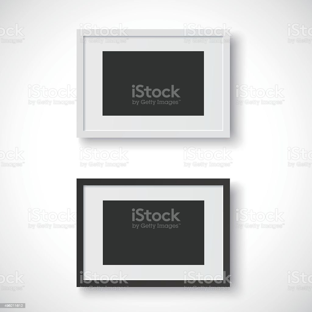 Picture frames on white background vector art illustration