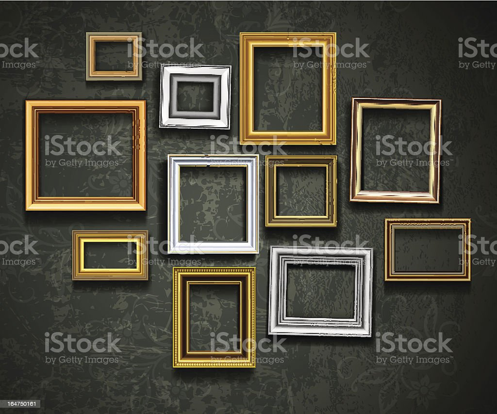 Picture frames vector art illustration