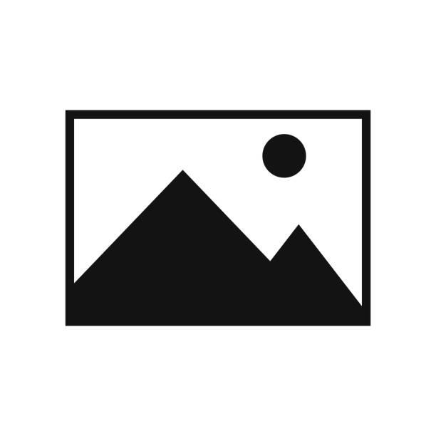 ilustrações de stock, clip art, desenhos animados e ícones de picture icon isolated on white background. vector illustration. - um animal