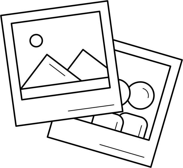 bild-linie-icon - bildformate stock-grafiken, -clipart, -cartoons und -symbole