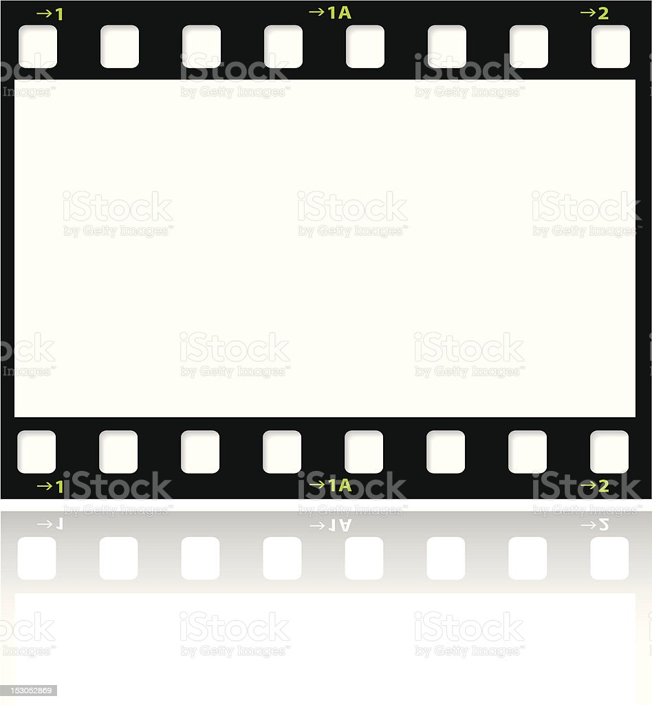 A picture of a black film strip royalty-free stock vector art