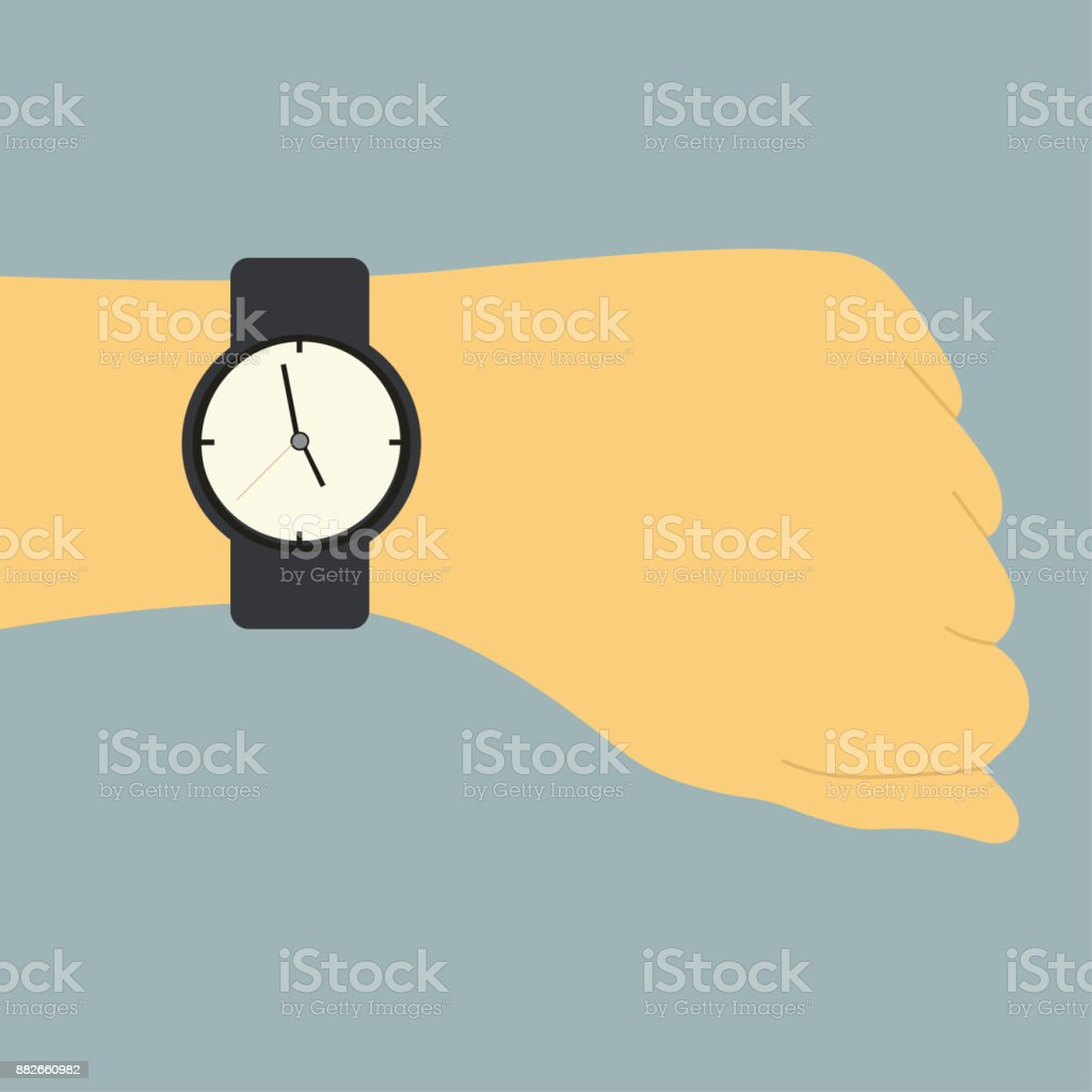 picture of a human hand with watch
