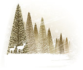 design of vector christmas tree backround.