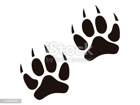 Vector illustration of an Animal Footprint