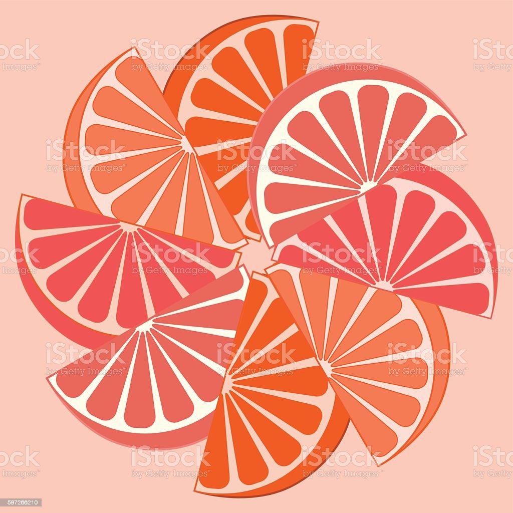 Picture of appetizing orange slices on a white background Lizenzfreies picture of appetizing orange slices on a white background stock vektor art und mehr bilder von bildhintergrund