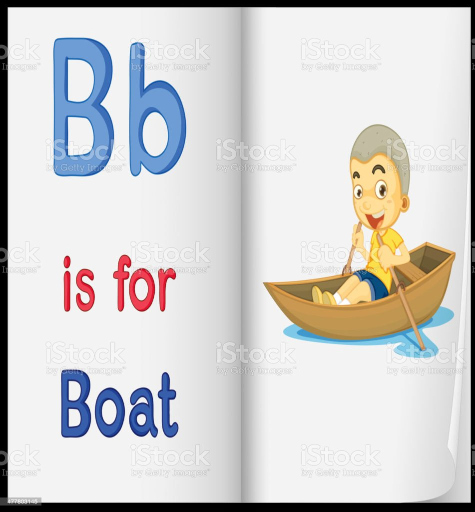 picture of boat in a book royalty-free stock vector art