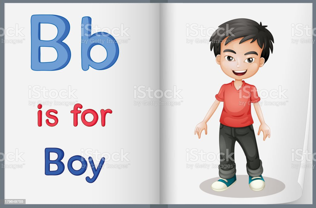 picture of  boy in a book royalty-free stock vector art