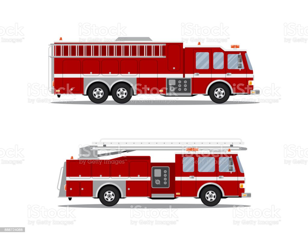 picture of fire truck vector art illustration