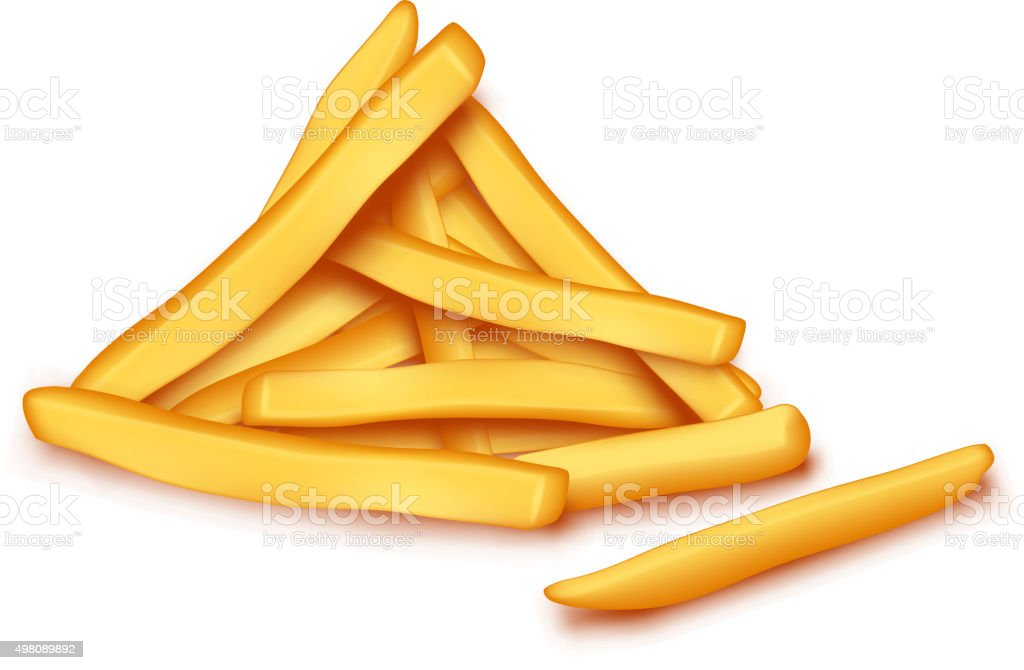 picture of fries12 vector art illustration