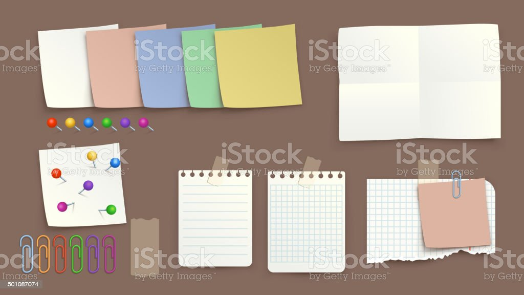 picture of paper torned1 vector art illustration