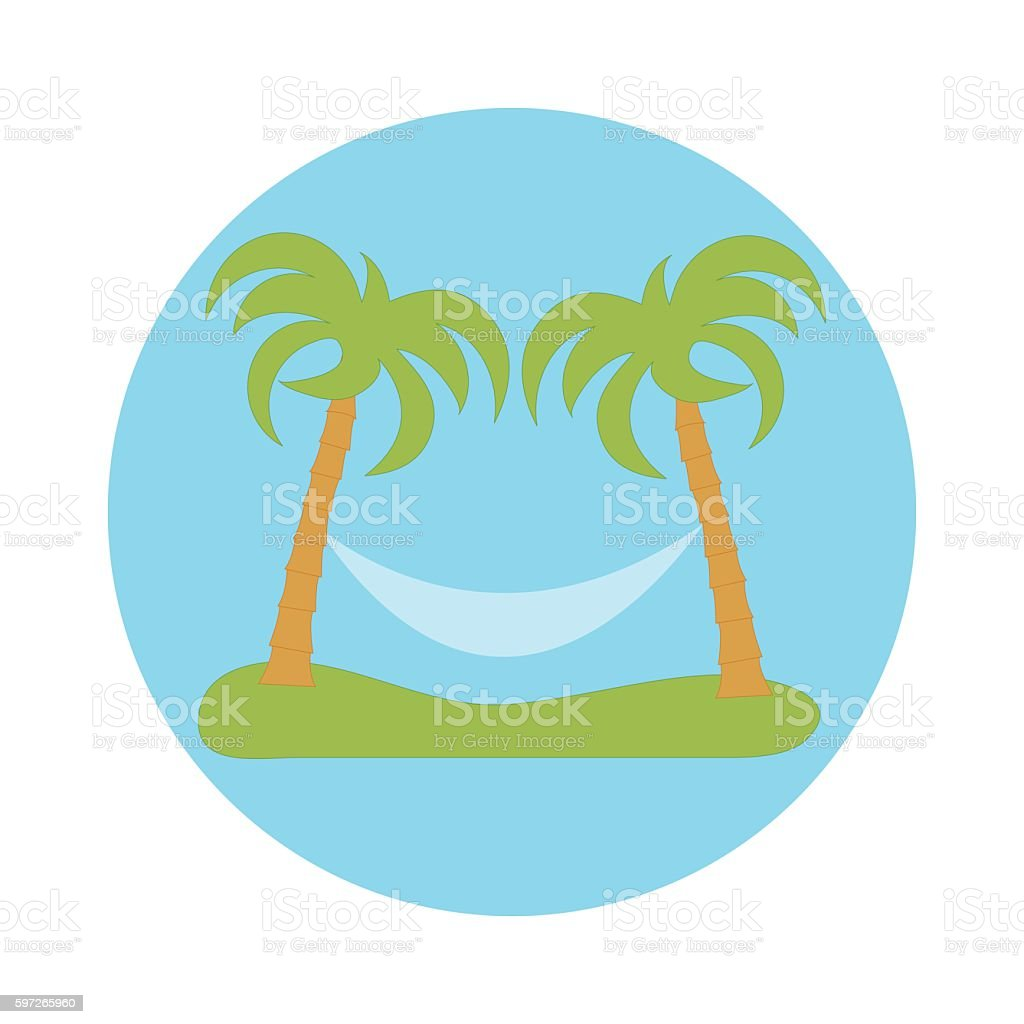 picture of rest in a hammock under two palm trees royalty-free picture of rest in a hammock under two palm trees stock vector art & more images of abstract