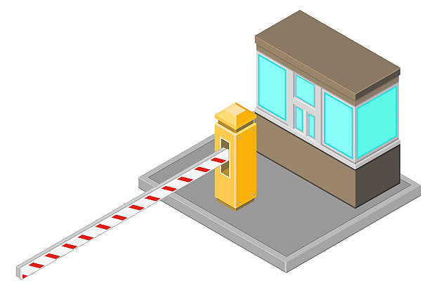 Royalty free toll gate clip art vector images