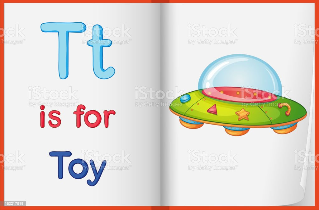 picture of  toy on a book royalty-free stock vector art