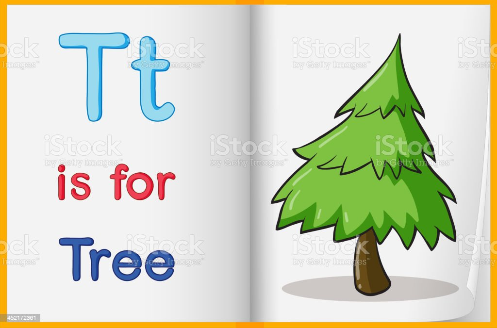Picture of tree in a book royalty-free stock vector art