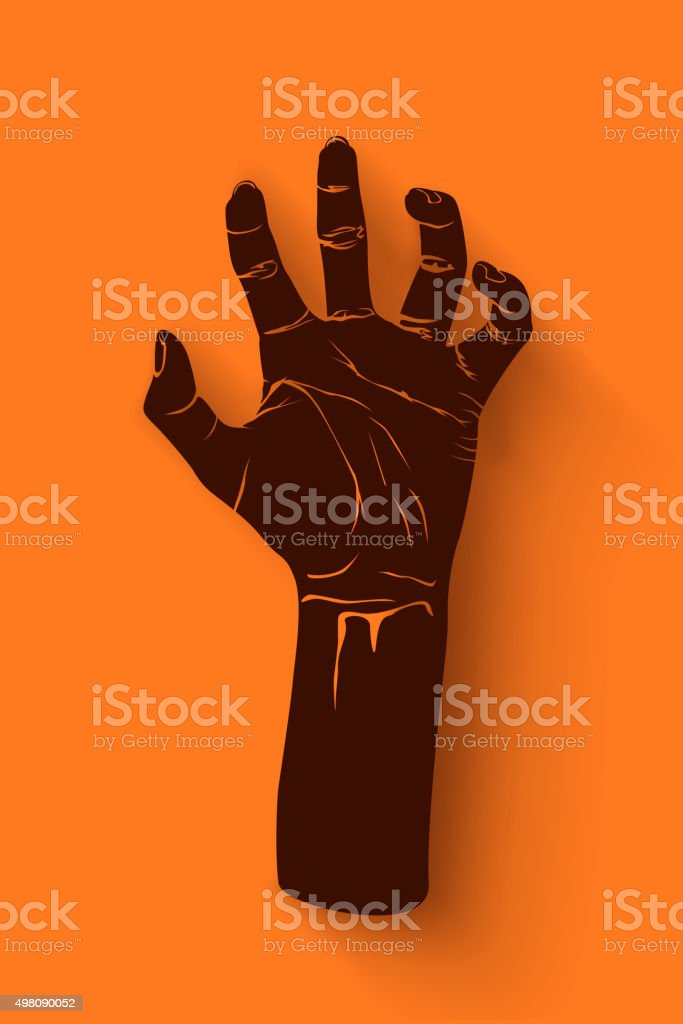 picture of zombie hand1 vector art illustration