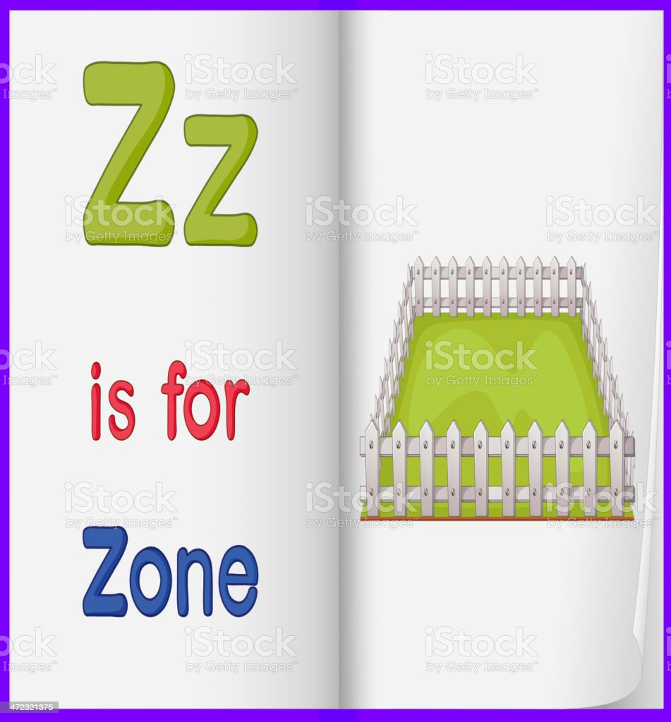 picture of  zone in a book royalty-free stock vector art