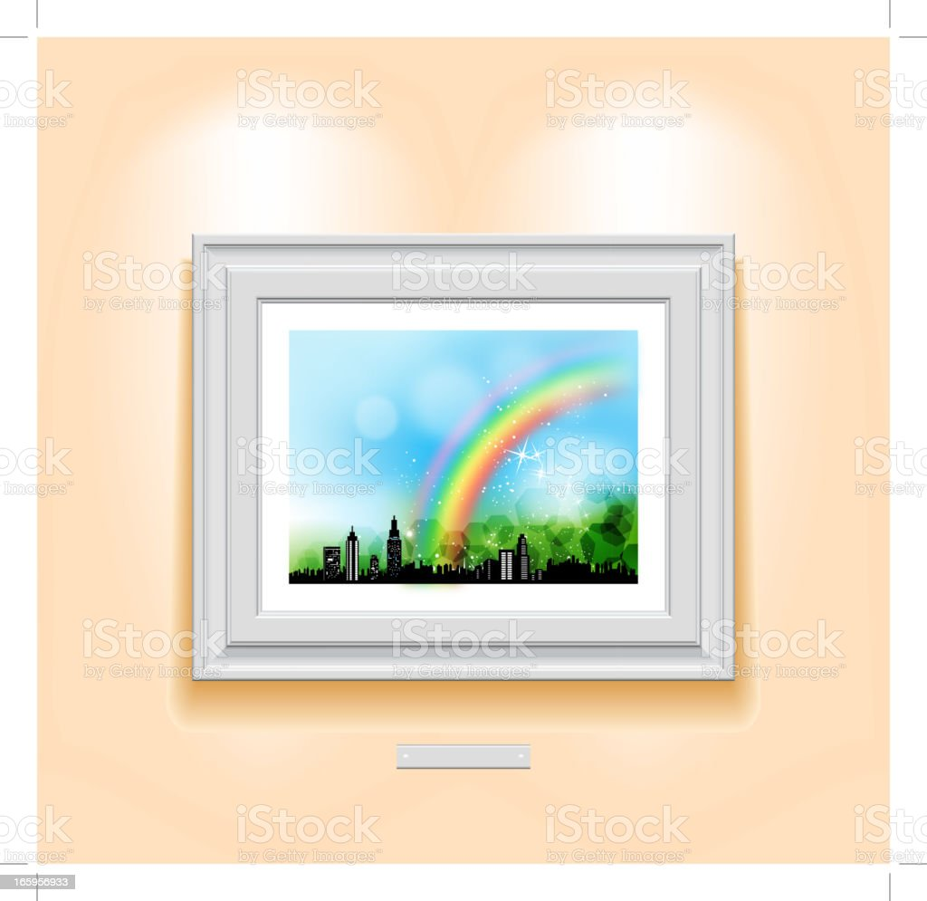 picture on the wall vector art illustration