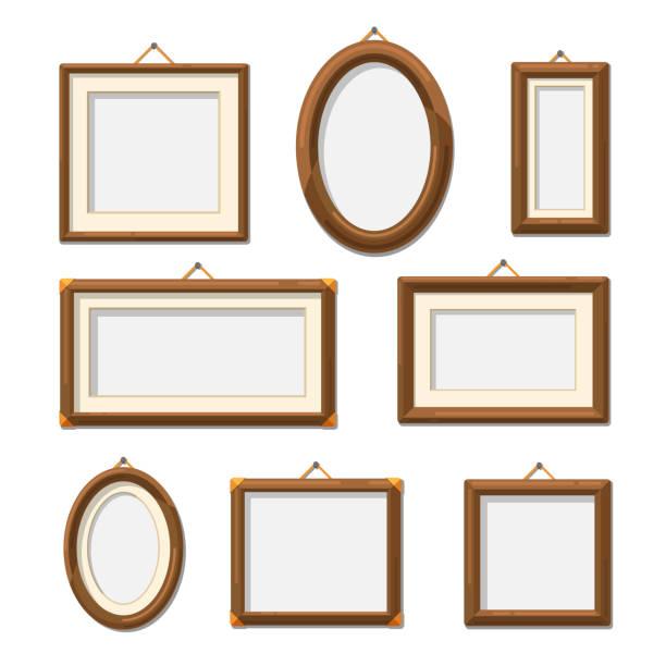 picture photo frames - palettenbilderrahmen stock-grafiken, -clipart, -cartoons und -symbole