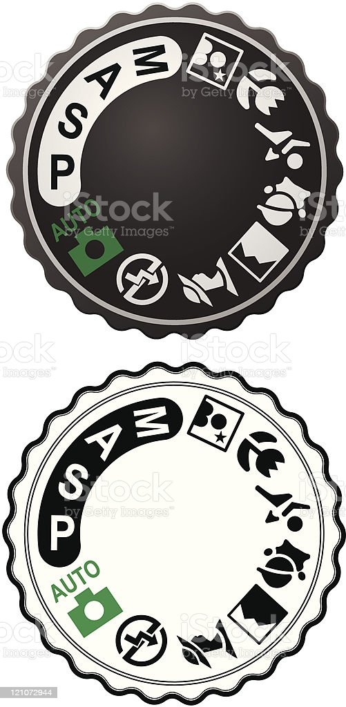 Picture Selection Dial royalty-free stock vector art