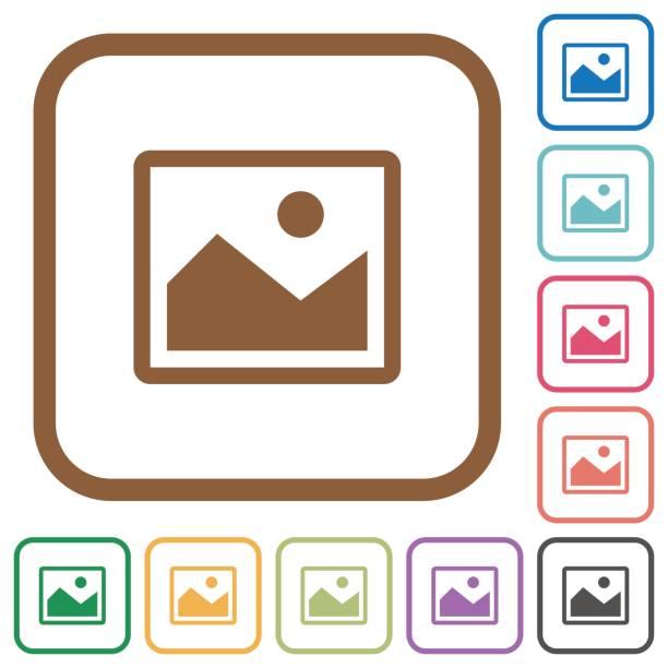 Einfache Symbole Bild – Vektorgrafik