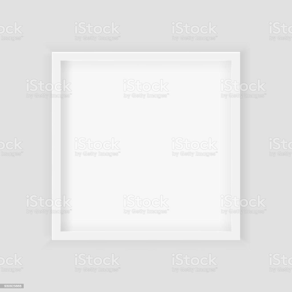 3d Bild Quadratischen Rahmendesign Realistische Square White Leere ...