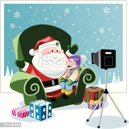 istock picture with Santa 164436409