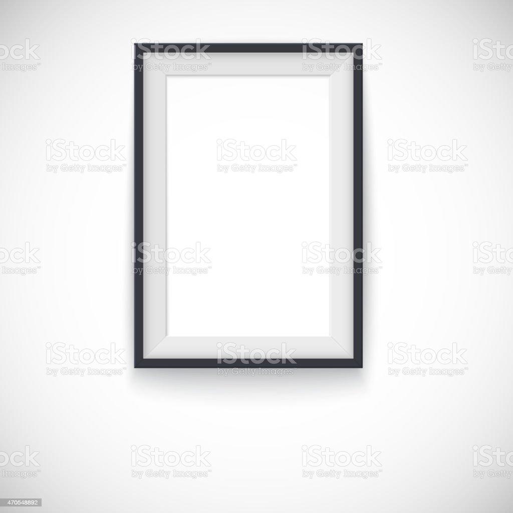 Ilustración de Cuadro Marco De Madera Vertical Vector De La Imagen O ...