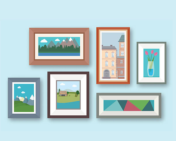 illustrazioni stock, clip art, cartoni animati e icone di tendenza di pictures gallery - quadro