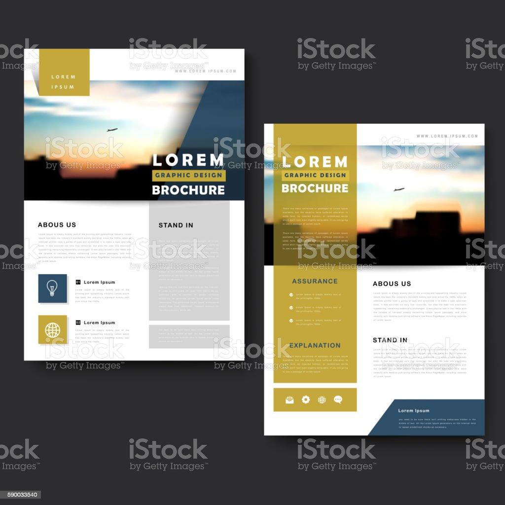 Picturesque brochure template royalty-free stock vector art
