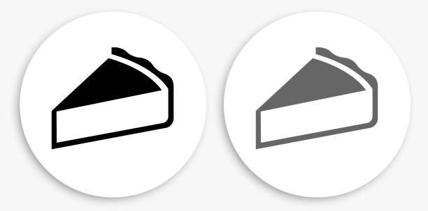 Pie Black and White Round Icon – Vektorgrafik