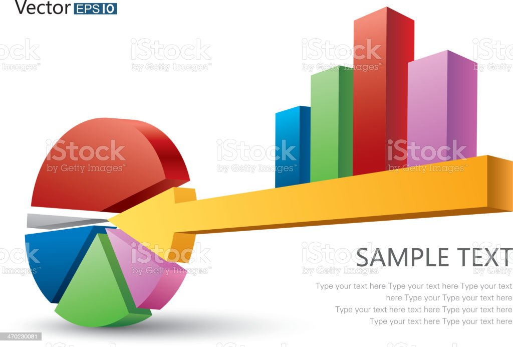 Pie Chart And Bar Chart Consists Of A Key Stock Vector Art More