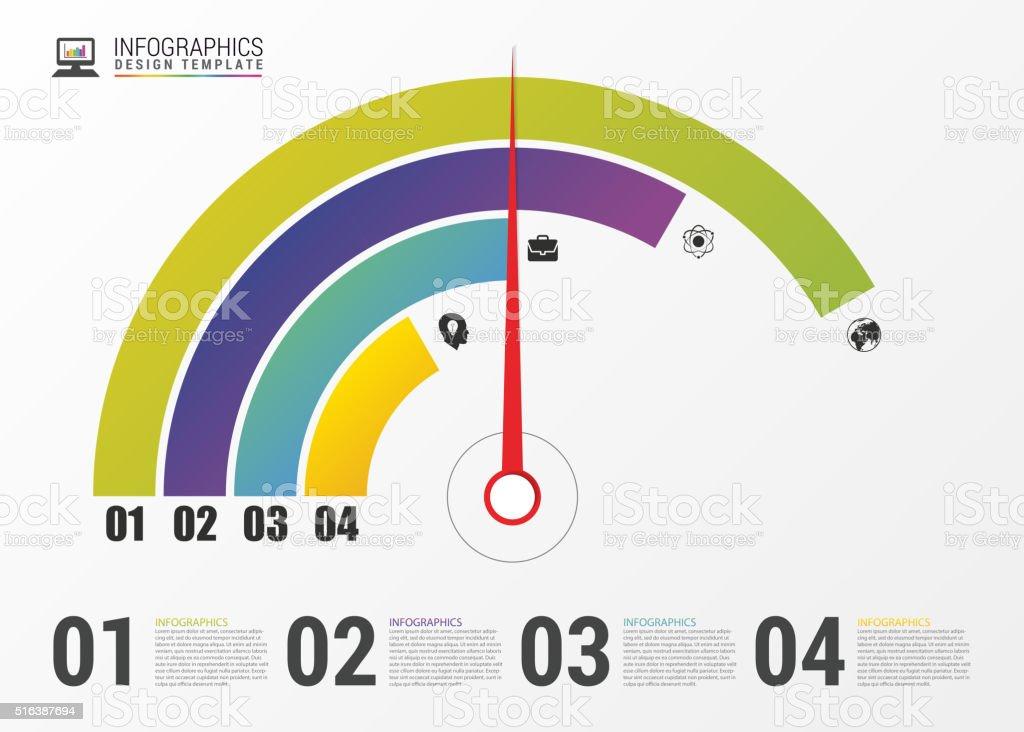 Pie Chart Circle Graph Modern Infographics Design Template Vector