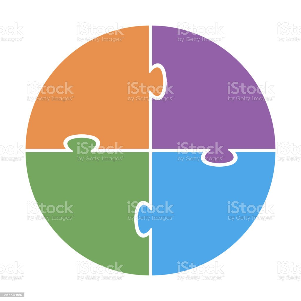 Pie chart for infographic four sided template colored puzzle with pie chart for infographic four sided template colored puzzle with text royalty free pie ccuart Image collections