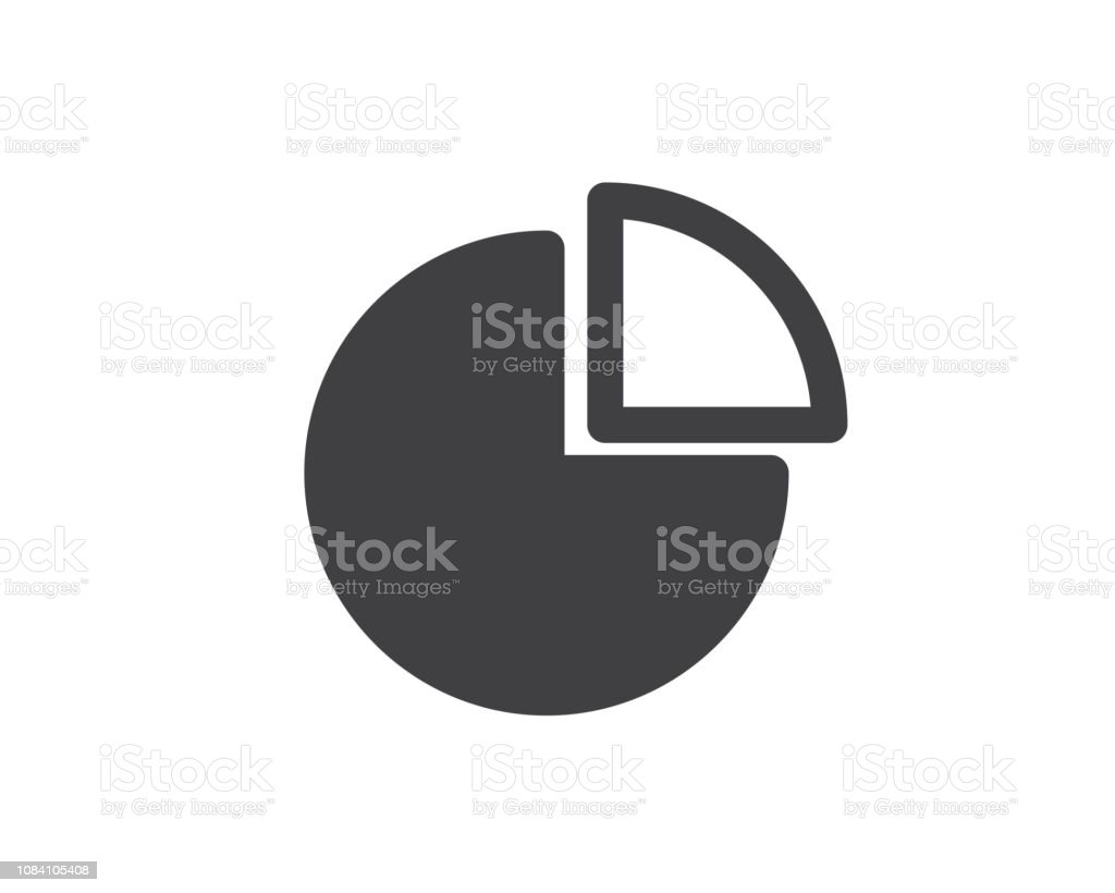 pie chart glyph solid icon illustration vector,pie chart icon illustration design