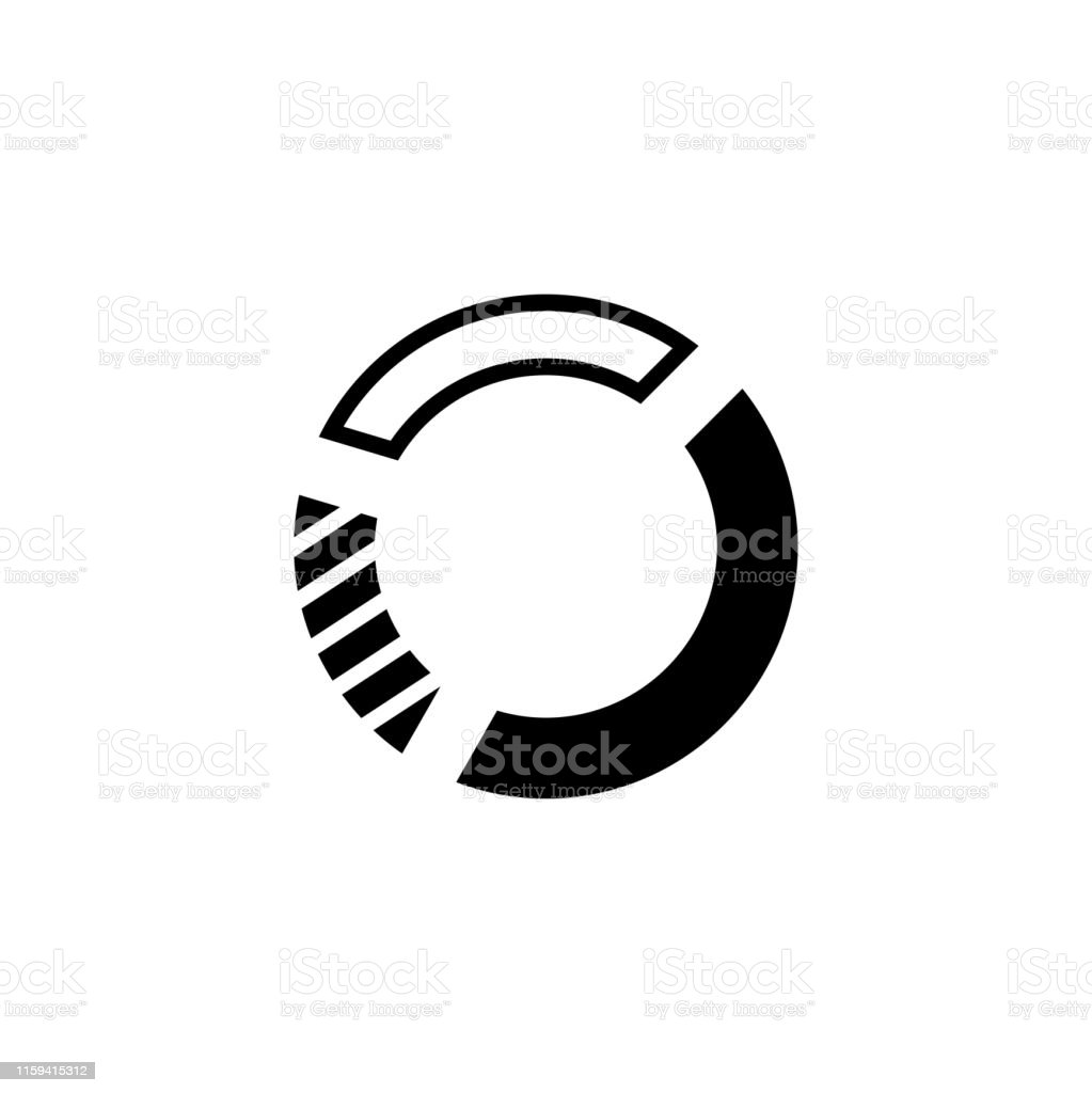 Pie Chart Icon In Flat Style Vector For Apps, UI, Websites. Black...