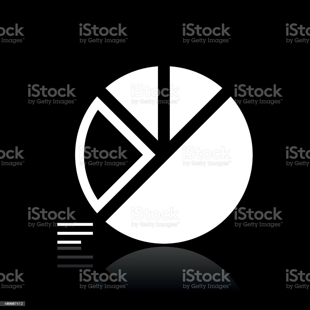 Pie Chart Icon On A Black Background White Series Stock Vector Art