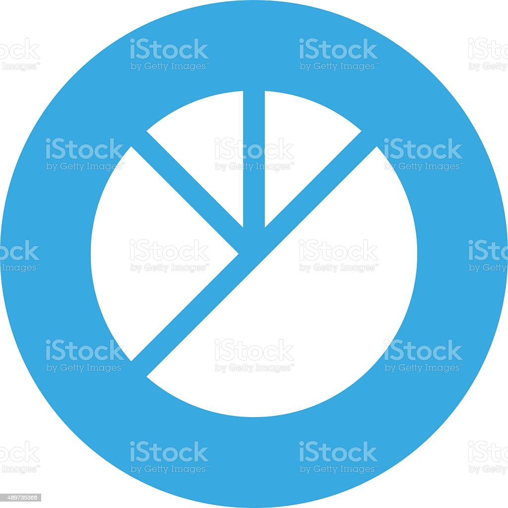 Pie Chart Icon On A Round Button Round Series Stock Vector Art