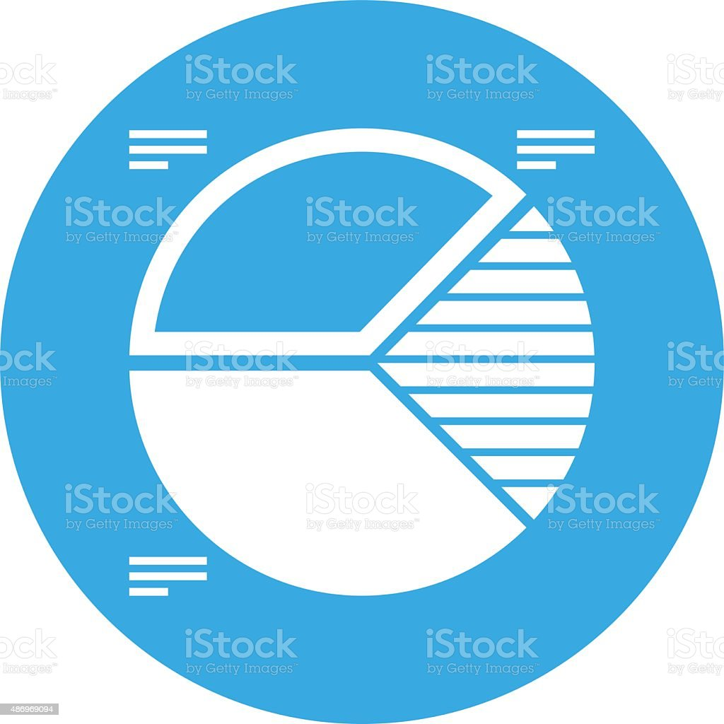 Pie Chart icon on a round button. royalty-free pie chart icon on a round button stock vector art & more images of 2015