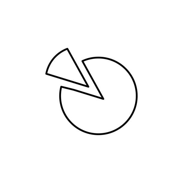 pie chart icon vector art illustration
