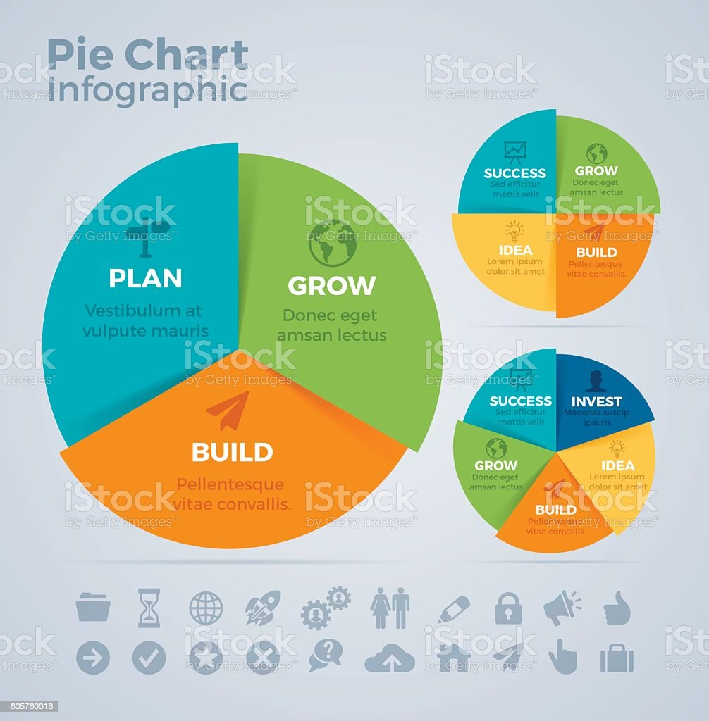 Pie Chart Infographic royalty-free stock vector art