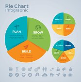 Pie chart infographic concept with space for your copy. EPS 10 file. Transparency effects used on highlight elements.