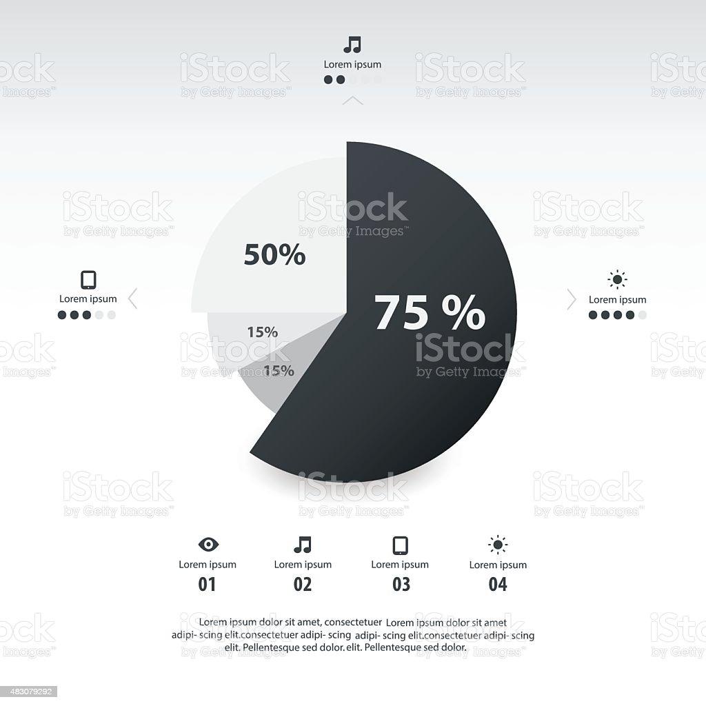 Pie chart infographics template design black and white color stock pie chart infographics template design black and white color royalty free pie chart infographics template geenschuldenfo Images