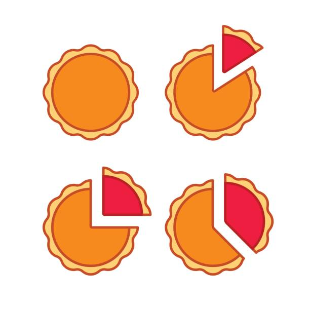 pie chart set - pie stock illustrations, clip art, cartoons, & icons