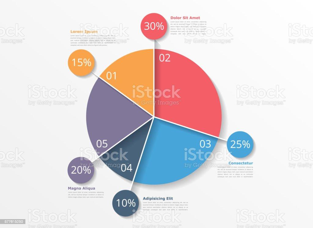 Pie Chart Template vector art illustration