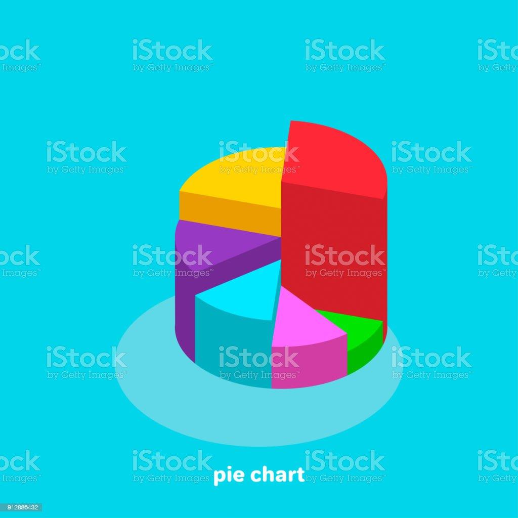 pie chart vector art illustration