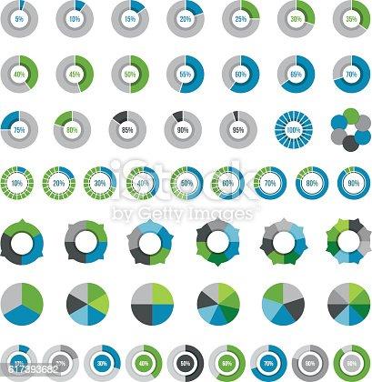 Vector illustration pie chart elements.
