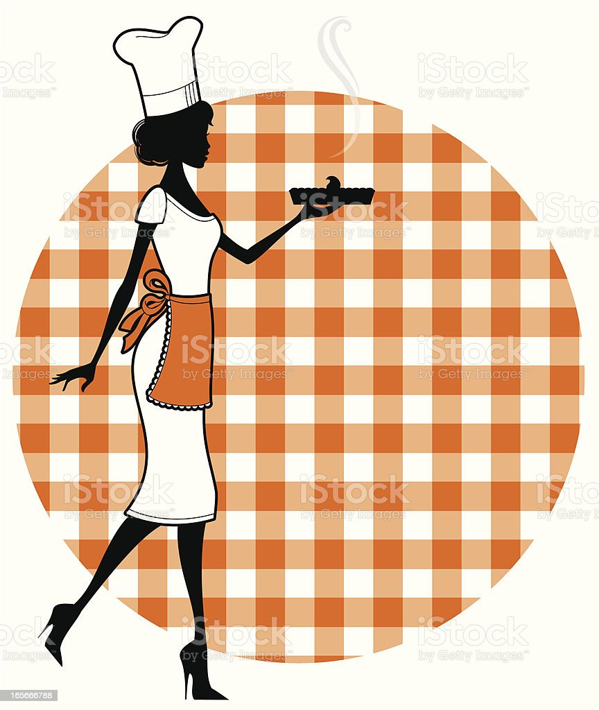 Pie Chef royalty-free stock vector art